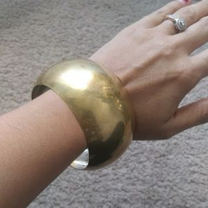 vintage brass bangle